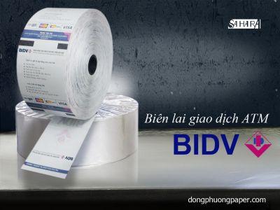 Biên lai giao dịch ATM BIDV
