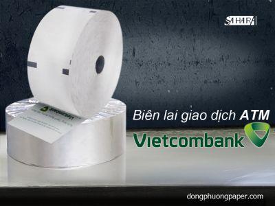 Biên lai giao dịch ATM VietcomBank